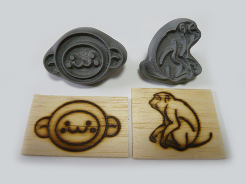 干支「猿」焼印をはじめました
